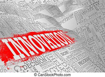 concetto, parola, nuvola, affari, innovazione