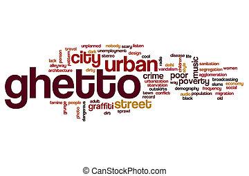 concetto, parola, nuvola, ghetto