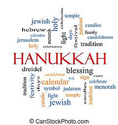 concetto, parola, nuvola, hanukkah