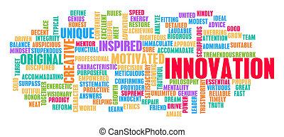 concetto, parola, nuvola, innovazione