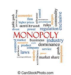 concetto, parola, nuvola, monopolio