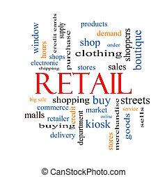concetto, parola, nuvola, vendita dettaglio