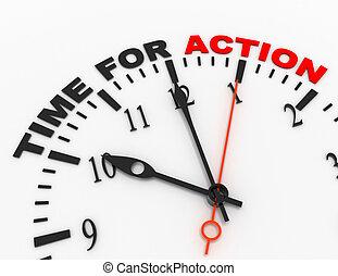 concetto, parola, orologio, astratto, action., tempo, 3d