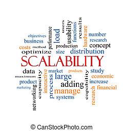 concetto, parola, scalability, nuvola