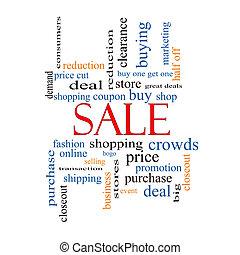 concetto, parola, vendita, nuvola