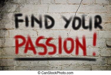 concetto, passione, trovare, tuo