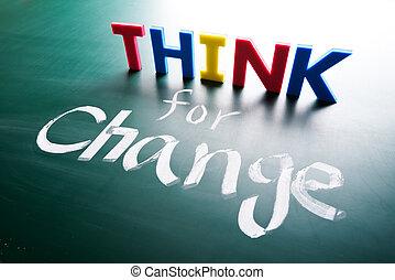 concetto, pensare, cambiamento