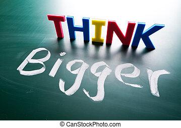 concetto, pensare, più grande