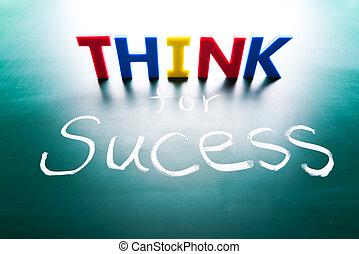 concetto, pensare, successo