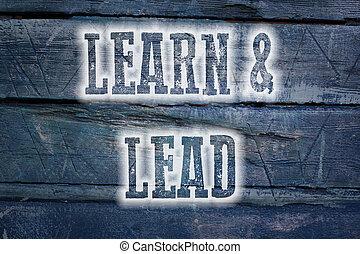 concetto, piombo, imparare
