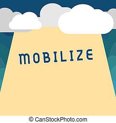 concetto, preparare, schierare, testo, fare, capace, mobile...