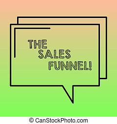 concetto, processo, foto, vendite, attraverso, vuoto, comico, piombo, scrittura, discorso, testo, bolla, clienti, space., significato, refers, trasparente, acquisto, funnel., contorno, ditte, rettangolare, scrittura