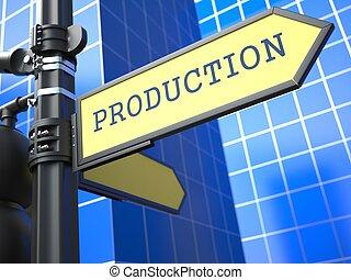 concetto, produzione, segno, affari