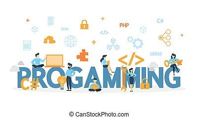 concetto, programmazione, illustration.