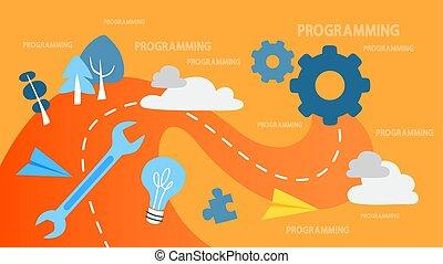 concetto, programmazione, illustrazione