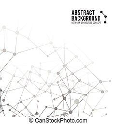 concetto, rete, astratto, -, illustrazione, 002, vettore, collegare, fondo