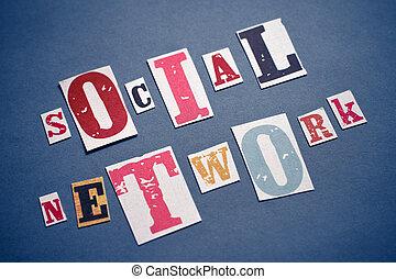 concetto, rete, sociale