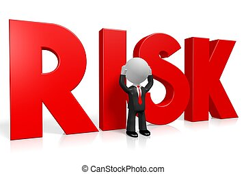 concetto, rischio, 3d