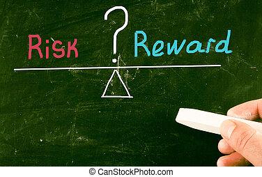 concetto, rischio, ricompensa
