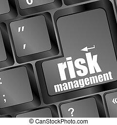 concetto, rischio, tastiera, bottone, amministrazione, internet