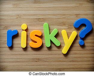 concetto, rischioso, scelta