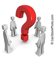 concetto, risolvere, risultato, risposta, problema, o