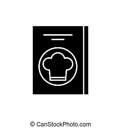 concetto, ristorante, conto, isolato, illustrazione, segno, fondo., vettore, nero, icona, simbolo