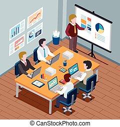 concetto, riunione, ufficio