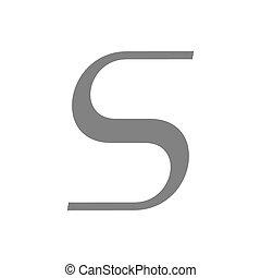 concetto, s, vettore, lettera, logotipo, icon.