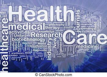 concetto, salute, fondo, cura