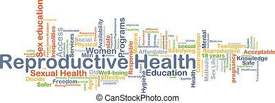 concetto, salute, riproduttivo, fondo