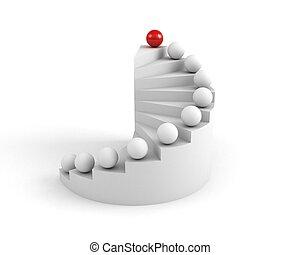 concetto, scale, success., direzione