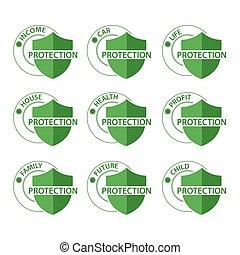 concetto, scudo, protezione