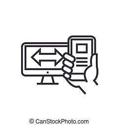 concetto, segno, isolato, illustrazione, simbolo, sensibile, vettore, disegno, magro, fondo, icona, linea