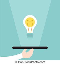 concetto, servire, idea, affari
