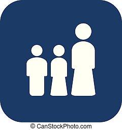 concetto, set, lei, illustrazione, donna, disegno, bambini, icona