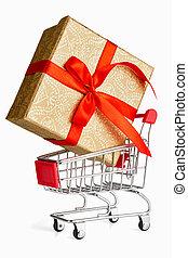 concetto, shopping, regalo