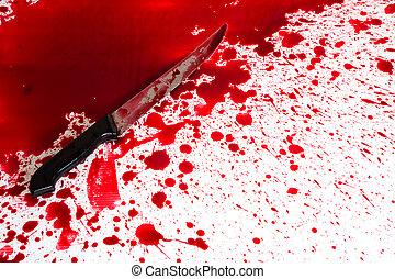 concetto, splatter, halloween, sanguinante, sangue, :, ...