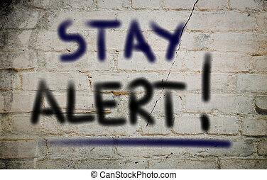 concetto, stare, allarme