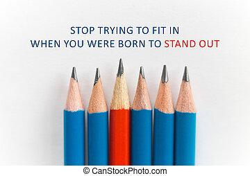concetto, stare in piedi, folla, fuori