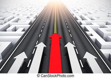 concetto, successo, direzione
