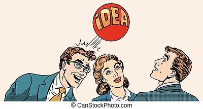 concetto, sviluppare, idea affari, brainstorming, squadra