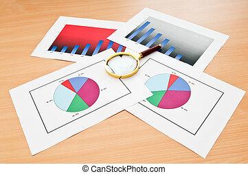 concetto, tabelle, affari