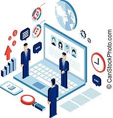concetto, tecnologia, affari, successo