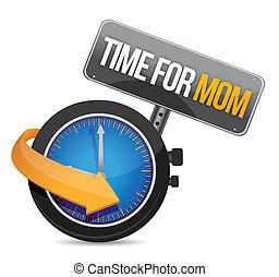 concetto, tempo, mamma, segno