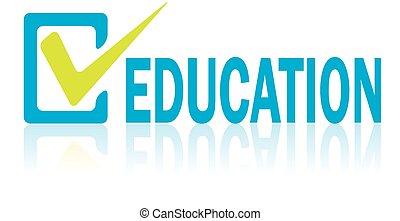 concetto, testo, educazione, vettore