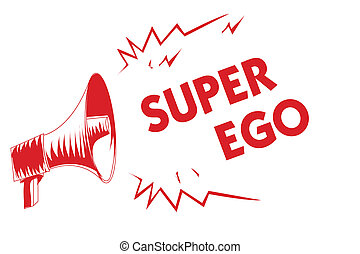 concetto, testo, ego., loud., qualsiasi, altoparlante, grida, stesso, megafono, parlante, suo, significato, importante, super, delega di responsabilità, messaggi, anima, persona, rosso, scrittura, intero, o