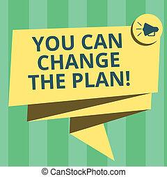 concetto, testo, plan., tuo, nastro, compiere, fare, piegato, scrittura, discorso, celebration., foto, lei, megafono, bolla, 3d, progetti, significato, mete, cambiamento, lattina, scrittura, changes, fusciacca