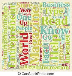 concetto, testo, rivista, 1, imprenditore, wordcloud, fondo