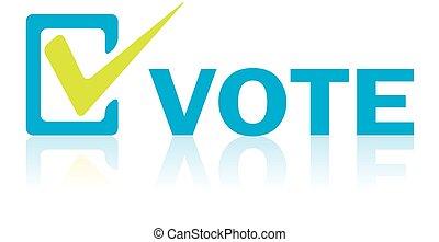 concetto, testo, vettore, affari, voto